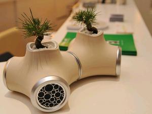 speaker-pots, macetas con altavoz