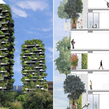 planos Bosco Verticale en Milán
