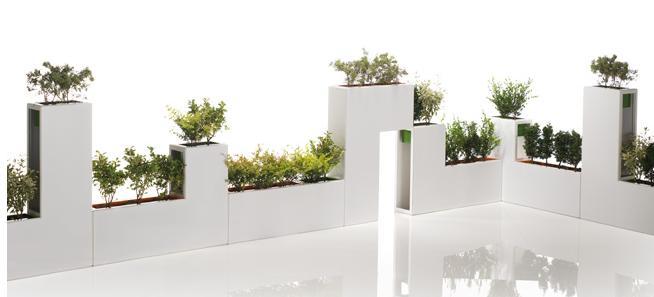 Maceteros separadores de espacios macetas jardineras y for Jardineras modernas exterior