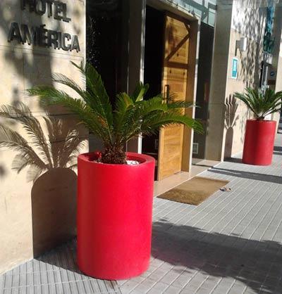 Maceteros para exterior macetas jardineras y maceteros - Maceteros rectangulares grandes ...