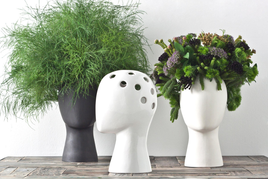 Conjunto maceteros Wig Flowerpot